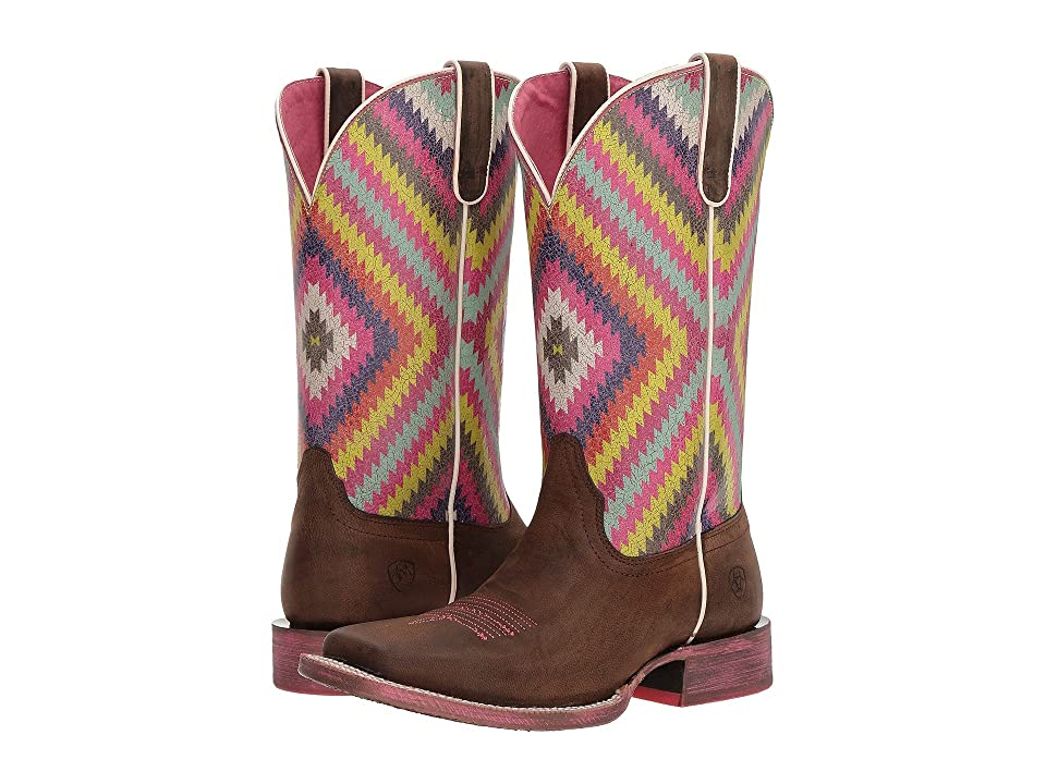 Ariat Circuit Savanna (Weathered Brown/Bright Aztec Print) Cowboy Boots