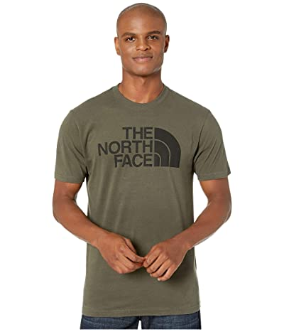 The North Face Short Sleeve Half Dome T-Shirt (New Taupe Green/TNF Black) Men
