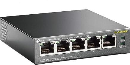 Tp-Link Tl-Sg1005P 5-Port Gigabit Poe Switch (5 Poorten Met 10/100/1000 Mbit/S, 4 Daarvan Met Poe-Ondersteuning, Plug-And-Play, Metalen Behuizing)