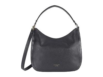 Kate Spade New York Roulette Large Hobo Bag (Black) Handbags