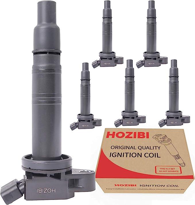 HOZIBI UF495 5C1419 C1426 1PCS Ignition Coil Compatible with 4Runner Camry Fj Cruiser Solara Tundra Tacoma Le-xus IS F 2.4L 2.7L 4.0L V6 V8