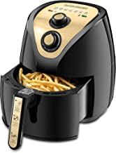 Black+Decker 2.5L/0.8kg 1500W Manual Air Fryer AerOfry with Rapid Air Covection Technology, AF250G-B5, Gold, 2 Years Manufacturer's Warranty