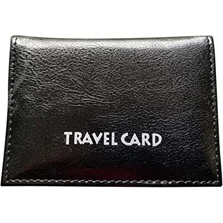Lorenz Leather Effect Grained PU Travel Pass Bus Card Id Card Holder Cover - Black