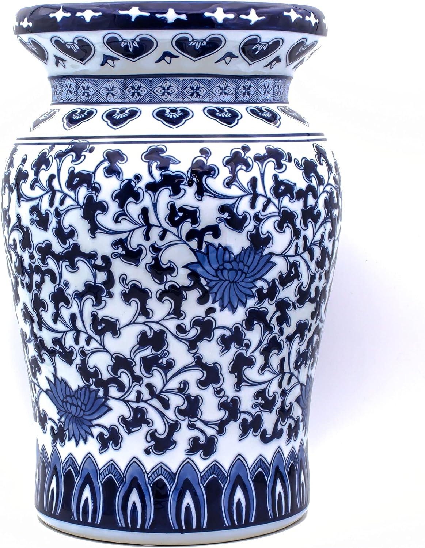 Euro Ceramica Claybarn Blue Garden Porcelain 16