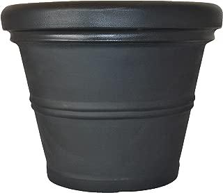 Tusco Products RR30BK Rolled Rim Garden Pot, 30-Inch, Black