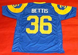 JEROME BETTIS BLUE THROWBACK LOS ANGELES CUSTOM STITCHED NEW FOOTBALL JERSEY MEN'S XL