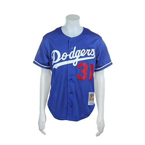 9440997c4d468 Mitchell   Ness Mike Piazza Blue Los Angeles Dodgers Authentic Mesh Batting  Practice Jersey