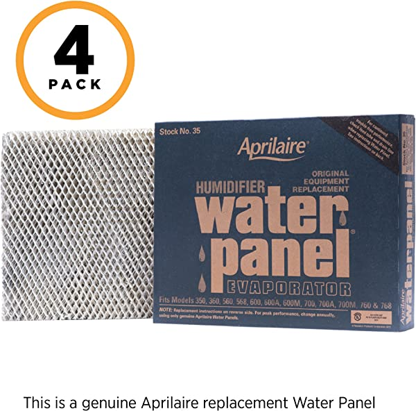 Aprilaire 35 Replacement Water Panel For Aprilaire Whole House Humidifier Models 350 360 560 568 600 600A 600M 700 700A 700M 760 768 Pack Of 4