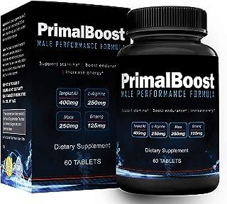 PrimalBoost Male Performance Supplement | Enhance Size, Stamina, Strength & Drive | L-Arginine, Maca, Tongkat Ali & Tribul...