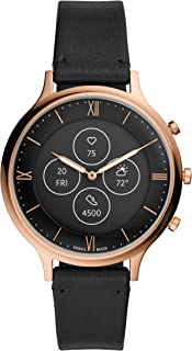 Fossil Women's Charter HR Heart Rate Stainless Steel Hybrid Smartwatch, Color: Rose Gold (FTW7011)