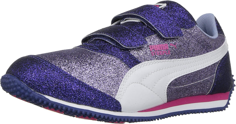 PUMA Unisex-Child Steeple Glitz Hook and Loop Sneaker