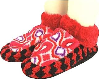 Neska Moda Girls 1 Pair Red Booties Cum Indoor Slippers for 2 to 4 Years-BT427