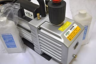 VPD10:2-Stage Rotary Vane High Performance Deep Vacuum Pump 9.5 CFM 12 micron ports:1/4&3/8 SAE MFL,Recommended for Vaccum Bagging/Epoxy Infussion Workshop Setup