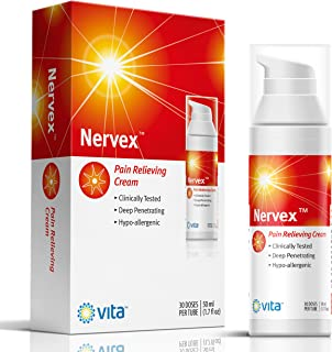 Neuropathy Nerve Pain Relief Cream. Nervex Includes: Arnica, B1, B5, B6, Capsaicin, MSM. Soothe & Regenerate. Reduce Burning, Tingling, Numbness. Soothing Aloe and Coconut Oil Base
