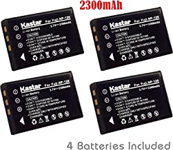 Kastar Battery (4-Pack) for Fujifilm NP-120, FNP120 and FinePix 603, F10, F10 Zoom, F11, F11 Zoom, M603, M603 Zoom, KYOCERA Contax Tvs Digital, RICOH Caplio 300G, 400G Wide, Pro G3, R330, RR10, RR30