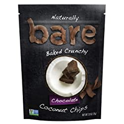 Bare Baked Coconut Chips, Chocolate, 2.8oz Bag