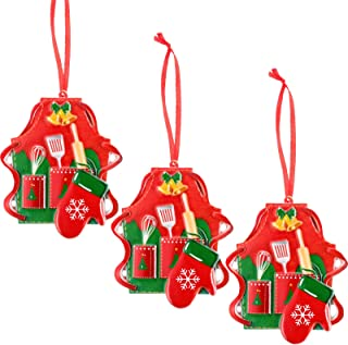 Apron Kitchen Themed Ornaments set of 3 Different Mixer Baker/'s Hat
