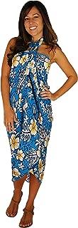 1 World Sarongs Womens Hibiscus Flower Swimsuit Sarong