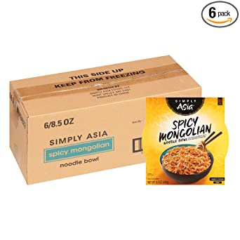 Simply Asia Spicy Mongolian Noodle Bowl 8.5 oz (Pack of 6)