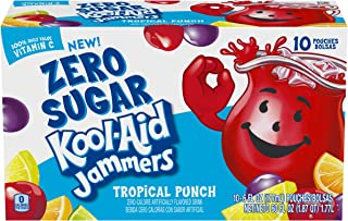 Kool Aid Jammers Tropical Punch Juice Pouches (6 oz Pouches, 4 Packs of 10)