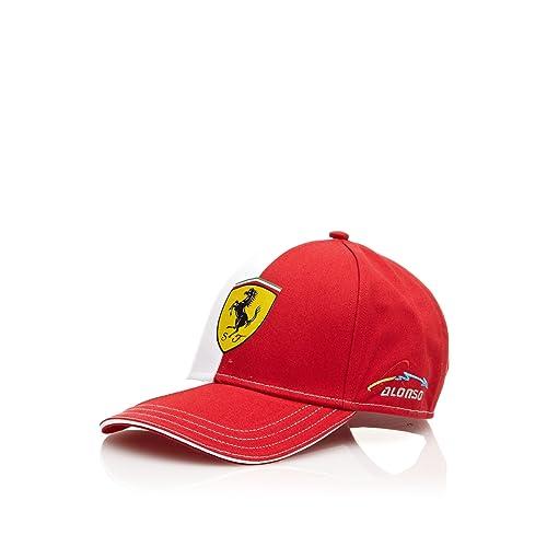 10e969faf6f0 Ferrari Berretto Alonso Logo Rosso Bianco