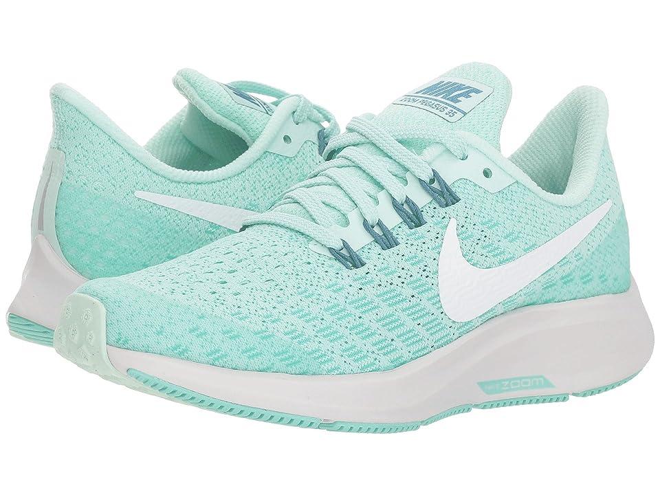 Nike Kids Air Zoom Pegasus 35 (Little Kid/Big Kid) (Igloo/White/Emerald Rise/Vast Grey) Girls Shoes