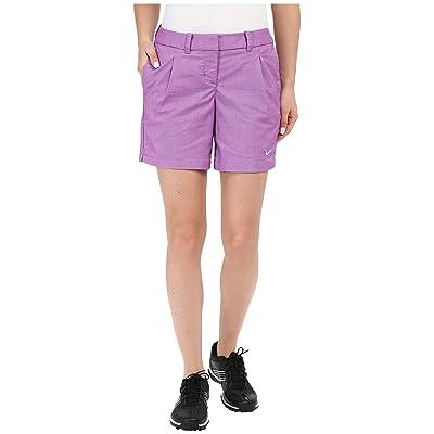 Nike Golf Oxford Shorts (Cosmic Purple/White) Women