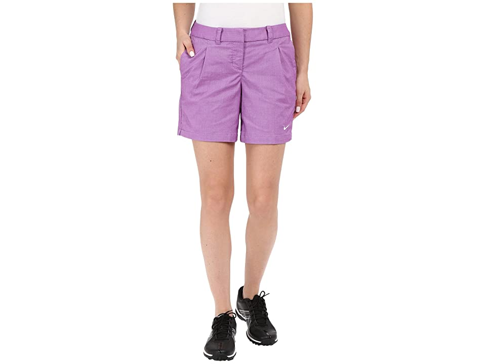 Nike Golf Oxford Shorts (Cosmic Purple/White) Women