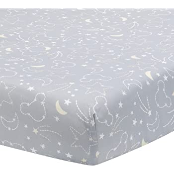 """NEW DISNEY BABY /""""M IS FOR MICKEY/"""" MICKEY MOUSE FITTED CRIB SHEET"""