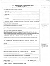 DOT/Non-DOT Breath Alcohol Testing Forms (1 Pack of Each)
