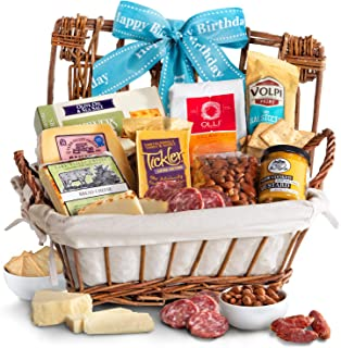 Happy Birthday Gourmet Cheese & Meats Hamper Gift Basket