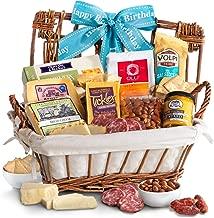 Golden State Fruit Happy Birthday Gourmet Cheese & Meats Hamper Gift Basket