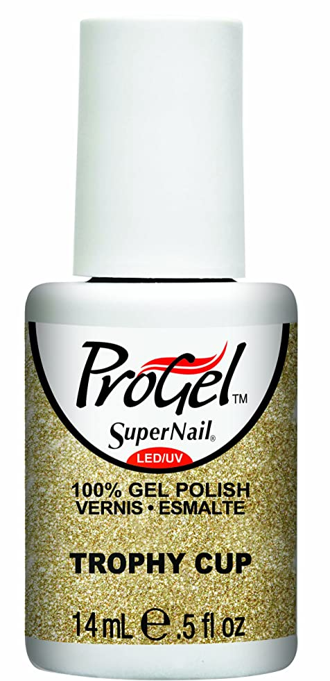 高揚した承認するかすれたSuperNail ProGel Gel Polish - Trophy Cup - 0.5oz / 14ml