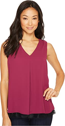 B Collection by Bobeau Grace Lace Layer Tank Top