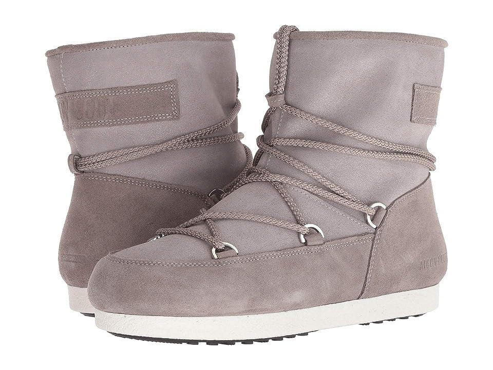 Tecnica Moon Boot Far Side Low Suede (Light Grey) Women