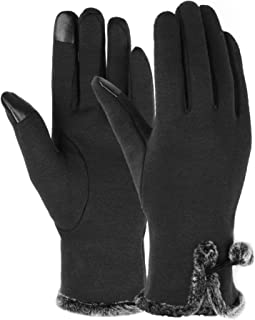 Best 1/3/6 Pairs Womens Gloves Winter Touch Screen Texting Gloves for Women Fleece Lined Thick Warm Gloves Review