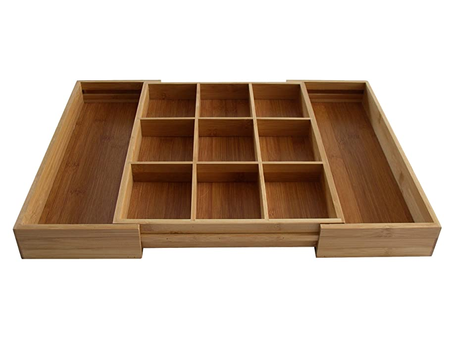 Bamboo Expandable Odds N Ends Drawer Organizer zxmdv087809170
