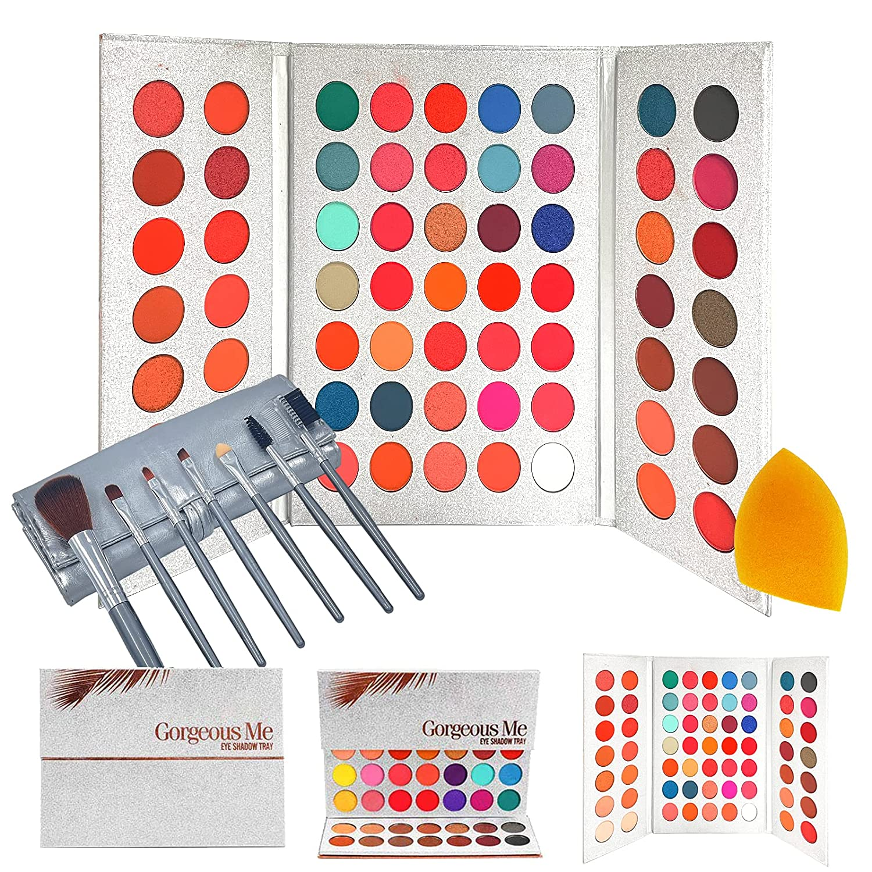 Eyeshadow Palette Set, 63 Colors Colorful High Pigmented Eyeshad
