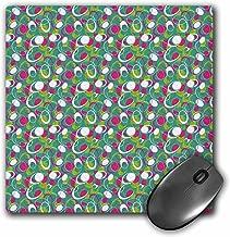 3dRose LLC 20.3x 20.3x 0.6cm لوحة ماوس ، باللون الوردي ، أخضر ، أزرق ، أبيض بنمط arcs ودوائر (MP _ 169112_ 1)