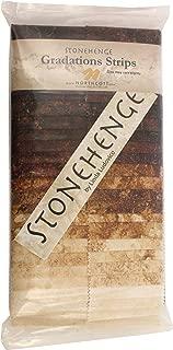 Stonehenge Gradations Iron Ore Stone Strips 40 2.5-inch Strips Jelly Roll Northcott