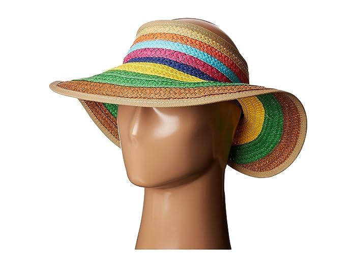 Women's Vintage Hats | Old Fashioned Hats | Retro Hats San Diego Hat Company PBV007 Paper Braid Adjustable Roll Up Visor with Ribbon Edge Brights Casual Visor $24.00 AT vintagedancer.com