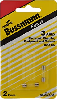 Bussman BP/GMA-3A 3 Amp Glass Tube Fast Acting Electronic Fuse 2 Count