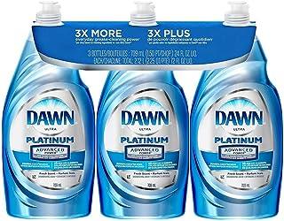 Dawn Ultra Platinum Advanced Power Clean Liquid Dishwashing Dish Soap (Advanced Platinum 24 Fl. 0z (3 Pack))