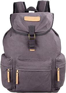 Hindawi Canvas DSLR Camera Shoulder Bag Backpack Rucksack Bag With Waterproof Cover