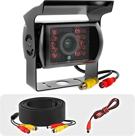 $28 » RV Backup Camera Heavy Duty IR Night Vision Waterproof IP68 Wide View 12-24v rv Observation for Car Truck Van Tow Replacement Rear View Reverse RCA Backup Camera with Cable 33ft
