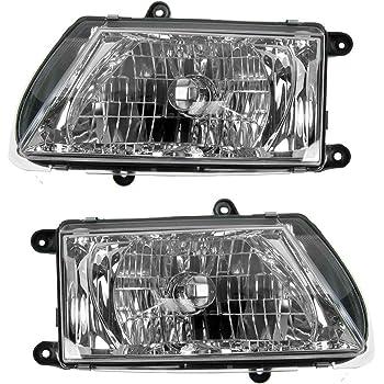 Amazon Com Headlights Headlamps Left Right Pair Set For 03 04 Isuzu Rodeo Automotive