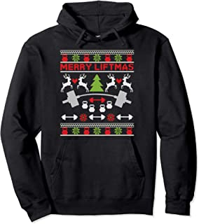Merry Liftmas - Fitness Workout Xmas - Christmas Bodybuilder Pullover Hoodie