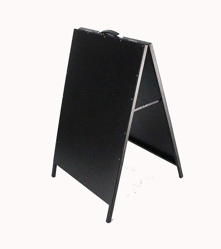 FixtureDisplays Black Board A Frame Menu Metal Side Walk Sign Restaurant Sign 15619