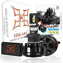 HIKARI Ultra LED Headlight Bulbs Conversion Kit -H7, Prime LED 12000lm 6K Cool White,2 Yr Warranty
