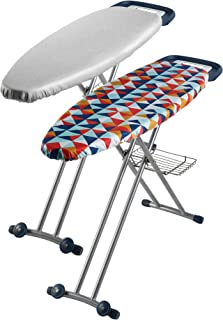 Sunbeam SB8400 Couture Ironing Board with Steam Generator Iron Tray, Retractable Iron Rest and Rail, Extra Thick Padded Re...